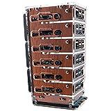 C4Labs Zebra Bramble Fan Cluster Case – Raspberry Pi 4B & 3B+ (6 Stack, Classic Wood)