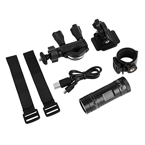 SALUTUY Cámara de Video, Full HD 1080P Carcasa de aleación de Aluminio a Prueba de Agua (IPX-4) Videocámara de Motor incorporada para Exteriores para Bicicletas y automóviles