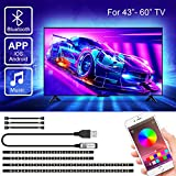 Retroiluminación LED para TV con control de aplicación, SRUIK 3M USB LED strip para televisores de 43-60 pulgadas,...