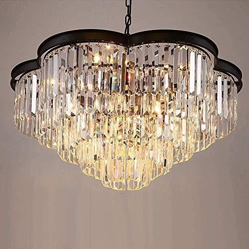 GUOXY Lámpara de techo de estilo de luz con forma de ciruela propuesta K9 cristal diámetro 80cm alto 100Cm12 fuente de luz 15-20 metros cuadrados