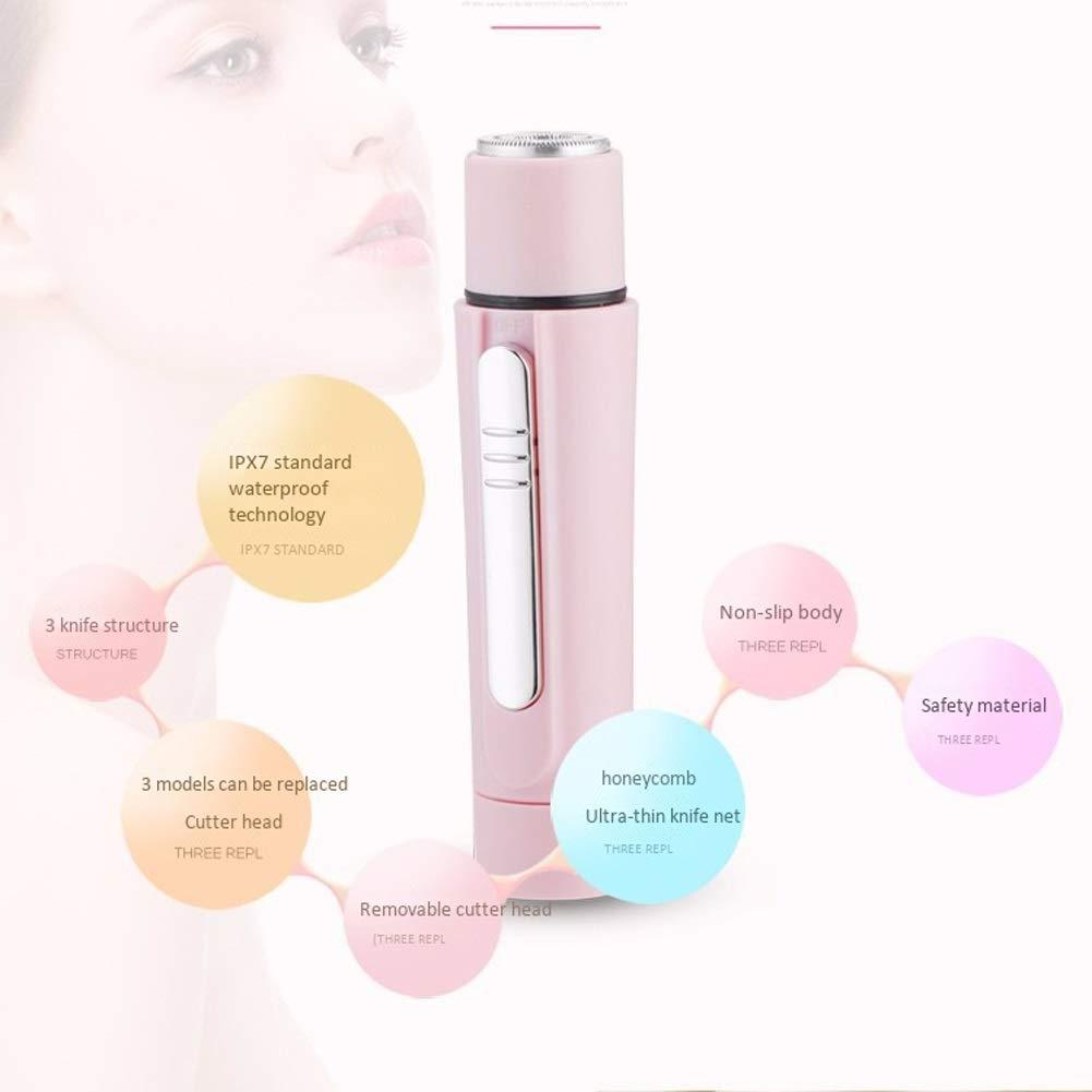 Afeitadora eléctrica para mujer Removedor del pelo facial de la ...