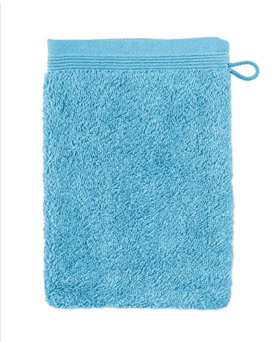 möve Superwuschel gant de lavage, Turquoise, 15 x 20 cm