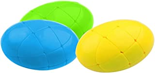 TANCH 1 PCS Egg-Shaped Speed Cube Stickerless Ellipse Ball Magic Cube Puzzle Toy Blue Green Yellow (Random Color)