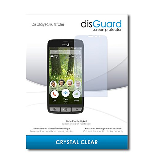 disGuard Bildschirmschutzfolie für Doro Liberto 825 [2 Stück] Crystal Clear, Kristall-klar, Unsichtbar, Extrem Kratzfest - Bildschirmschutz, Schutzfolie, Glasfolie, Panzerfolie
