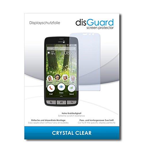 disGuard® Bildschirmschutzfolie [Crystal Clear] kompatibel mit Doro Liberto 825 [2 Stück] Kristallklar, Transparent, Unsichtbar, Extrem Kratzfest, Anti-Fingerabdruck - Panzerglas Folie, Schutzfolie