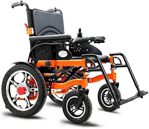 SISHUINIANHUA Heavy Duty Elektro-Rollstuhl, faltbar und leicht elektrisch betriebene, Sitzbreite 51 cm, 360 ° Joystick, Gewicht Kapazität 100Kg, 15Ah