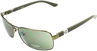 GUESS - Gafas de Sol Hombre GU 6733 GRN-2 Verde Cerrado