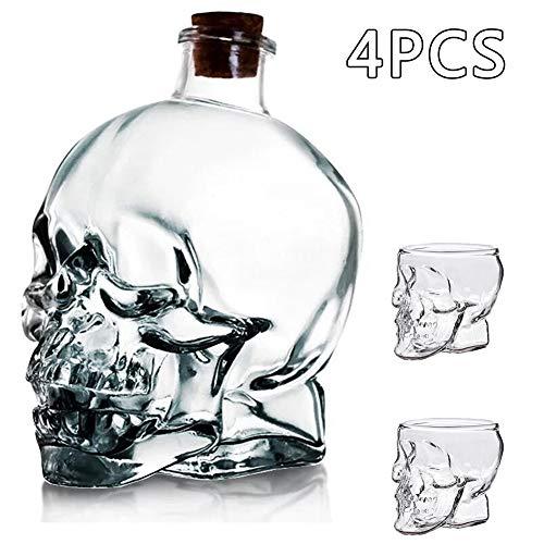 KHXJYC 750 Ml SchäDelweinflasche, Dickes Korkglas, Hochwertige Wasserflasche Versiegelter Wein Mit Selbst Gebrauter Sektflasche,4pcs
