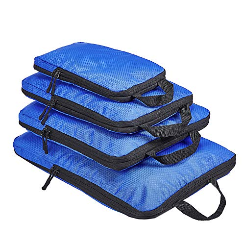 COVAX 4 Set Compression Packing Cubes, Travel Luggage Organizers and Storage Packing Cubes