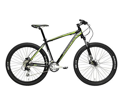Cicli Adriatica Bicicletta Wing RX 27,5Uomo Suntour XCM Remote Lock out, Uomo, Fahrrad Wing RX 27.5 Suntour Xcm Remote Lock out, Nero/Verde, L