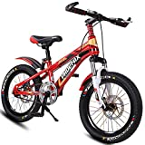 Axdwfd Bici per Bambini Bici da 18 Pollici in Bicicletta con rotelle di Allenamento, per 9-13 Anni Ragazzi e Ragazze Bici da Bicicletta Regolabile per Bambini, Blu, Verde, Rosso, Azzurro