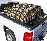 Cargo Net, 6 .5x4.2 ft Short Truck Bed Cargo Net Heavy Duty Cargo Nets for Pickup Trucks with Cam Buckles & S-Hooks (76' x 50')
