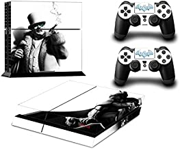 MightyStickers® PS4 Wrap Skin Game Console + 2 Controller Decal Vinyl Protective Covers Stickers Sony PlayStation 4 - DC Comics Super Hero Batman Arkham Dark Knight Super Villains Penguin