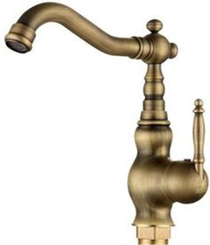 Faucets Basin Mixer Full Copper Antique Faucet Retro European Style Basin Faucet