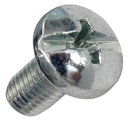 Aerzetix: 20 Schrauben Schrauben mit Kronenkopf M5x10mm Stahl verzinkt 1,0mm Schlitz PH2 kreuzförmig Phillips C18343