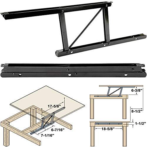 "Woodtek 164228,""Hardware, Table, Folding Table Hardware"", Coffee Table Top Lift Mechanism-L+r"