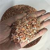 Natural fresa Cristal Grava Bulk Mineral Strailberry Stone Crystal Degaussing Powder Crystal Gravel Fish Tank-100 gramos_aproximadamente 30-50mm