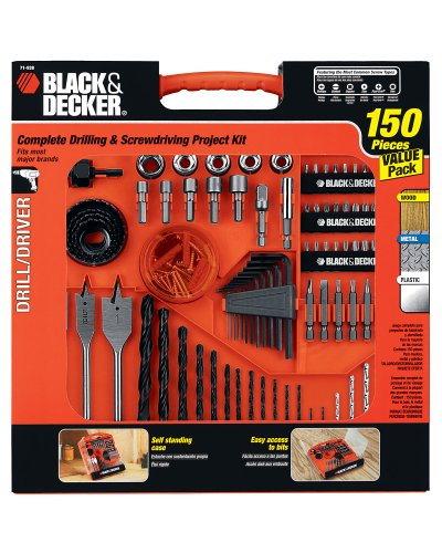 Black & Decker 71-938 Drilling and Driving Set, 150-Piece