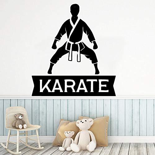 yaonuli Karaté personnalisé Vinyle Cuisine Mur Autocollant décoration décoration de la Chambre des Enfants décoration 42x45 cm