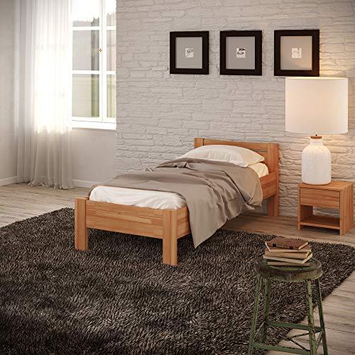 Krok Wood Seniorenbett SiSi aus Massivholz (Buche, 90 x 200 cm + Nachttisch)