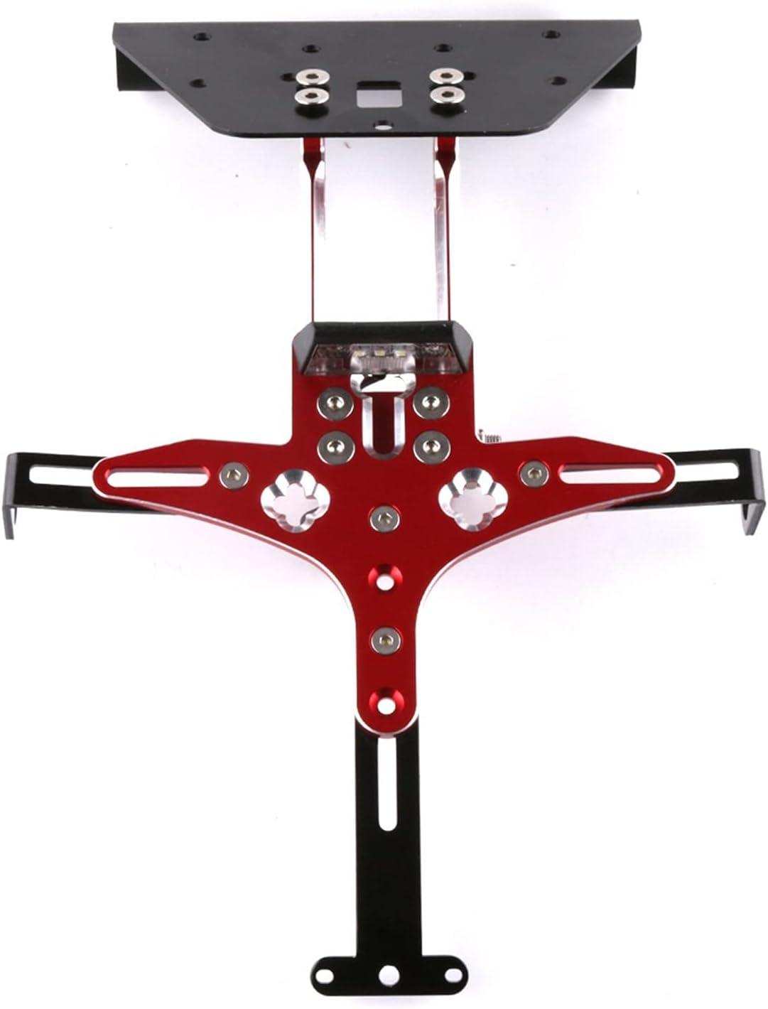 Ting Ting TTRS Store CNC Registro de Licencia Número de Placa Soporte de Soporte Montaje Kit Adecuado para KYMCO AK550 AK 550 2017 2018 Accesorios de la Scooter de la Motocicleta (Color : Red)