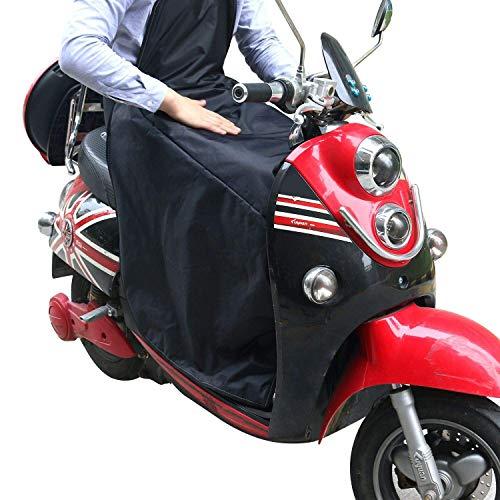 KINDAX Cubrepiernas universal impermeable a la lluvia, antifrío y mantiene caliente, manta para proteger las piernas del frío para scooter, talla única