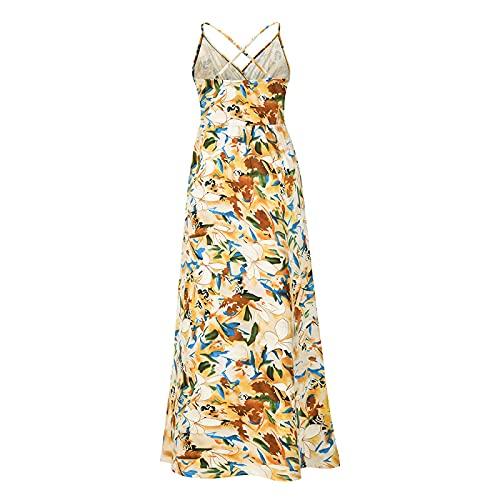 Vestido De Mujer con Elementos De Impresión De Moda Primavera Y Verano Tallas Grandes Vestido Corto De Mujer Vestido Casual (Albaricoque+XXL)