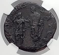 ANTONINUS PIUS w/ ARMENIAN KING Sohemo Sestertius Ancient Roman Coin NGC i59847