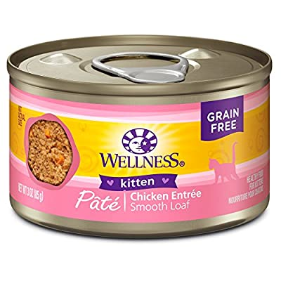 Wellness Complete Health Grain Free Canned Cat Food, Kitten Formula, 3 Ounces (Pack of 24)