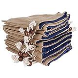 Bolsa de lino con cordón de 10 piezas bolsas de regalo bolsas con cordón bolsa de joyería artesanía de bricolaje para fiesta de boda de Navidad