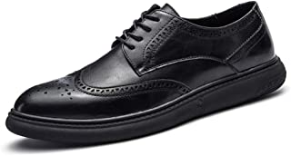 Giày cao cấp nam – Hilotu Clearance Men's Casual Soft Bottom Regular Cotton Warm Brogue Shoes Wingtip Comfort Formal Business Oxfords (Color : Black, Size : 9.5 D(M) US)