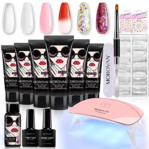 Morovan Poly Extension Gel Nail Kit With...