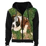 Little Saint Bernard Dog Puppy in Nature Switzerland,Men/Womens m Outerwear Jackets and Hoodies