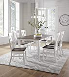 """7 Piece Solid Maple Wood Dining Room Set 