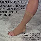 Sportaid Ankle Brace, Nylon Two-Way Stretch, Beige color, Size: Small - 1 ea