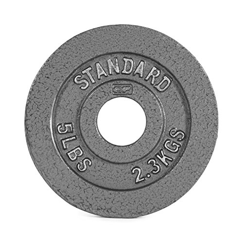 Cap Barbell Olympic 2-Inch Weight Plate, 5-Pounds, Single
