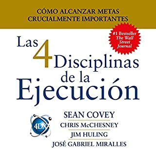 Las 4 Disciplinas de la Ejecución [The 4 Disciplines of Execution]     Cómo alcanzar metas crucialmente importantes              By:                                                                                                                                 Sean Covey,                                                                                        Chris McChesney,                                                                                        Jim Huling,                   and others                          Narrated by:                                                                                                                                 Mauricio Pérez                      Length: 10 hrs and 8 mins     94 ratings     Overall 4.6