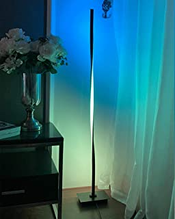 RGB Floor Lamp, Modern LED Floor Lamp Ambient Background Light, Minimalism Color Changing LED Dimmable Torchiere, UK Plug,...