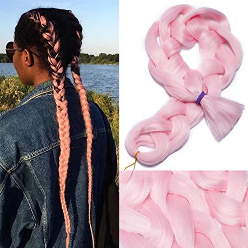 Extensiones de cabello trenzado Jumbo realmente largo 1 paquete de 105 cm / 41 pulgadas Afro Box Trenzas Negro Marrón Rubio Trenza sintética Crochet de cola de caballo Crochet