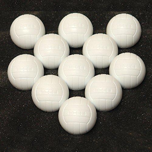 DEMA Tischfußball Tischkicker Kicker Spielbälle Bälle Set 11-TLG. weiß
