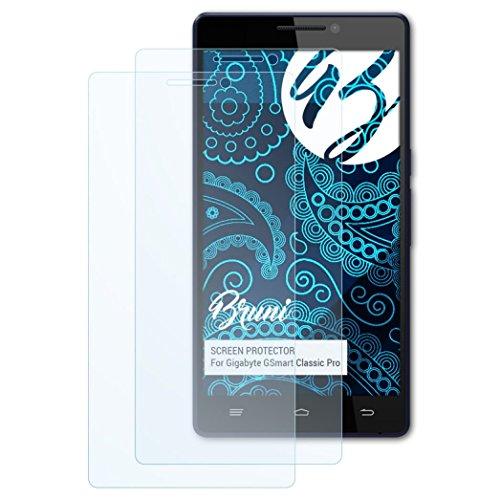 Bruni Schutzfolie kompatibel mit Gigabyte GSmart Classic Pro Folie, glasklare Bildschirmschutzfolie (2X)