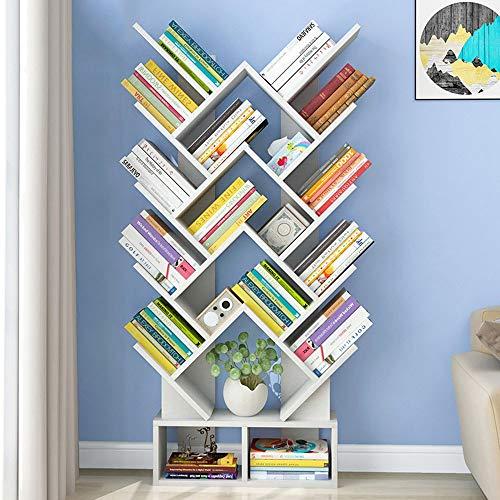 Estanterías Estantería moderna y simple en forma de árbol Estantería de almacenamiento Estantes Organizador de almacenamiento de libros, libros / CD / álbumes / soporte de archivos en la sala de estar