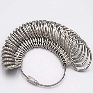 Aluminum Alloy Silver Finger Ring Sizer Measuring Jewelry Size Measure Tool,US 0-15