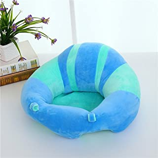 Uni Best Baby Sitting Chair Nursery Pillow Protectors  Colorful Pattern Lovely kids Baby Support Seat Soft Pillow Cushion Sofa Plush Toys Children s Furniture Round Chair Seat  blue  green