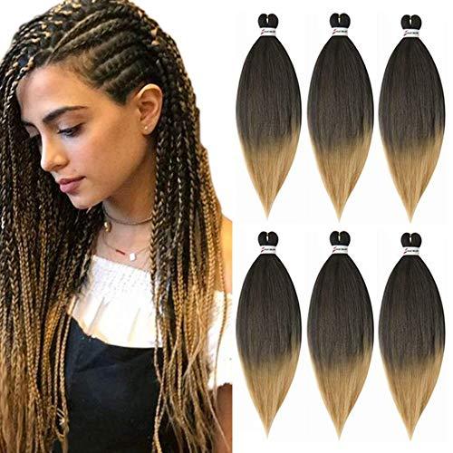 Extensiones de cabello trenzado pre estirado 26 pulgadas 6 paquetes/lote Trenza sin...