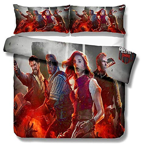 299 Duvet Cover Sets Call Of Duty 3D Printing 3 Piece Set Bedding 100% Microfiber For Gifts (1 Duvet Cover + 2 Pillowcases) A-Twin(172x218cm)