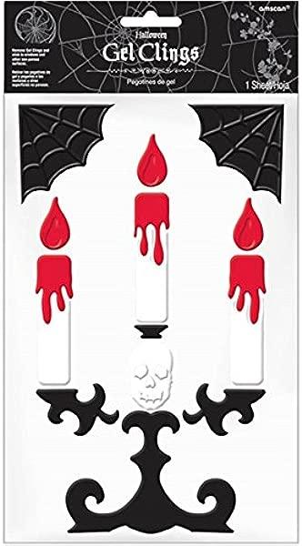Halloween Themed Gel Cling Set Candelabra 11 Piece
