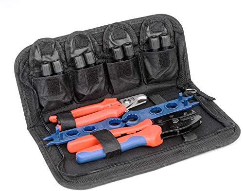IWISS LY-2546B-KIT Tool-Set-DE Crimpzangenset mit Kabelschneider, Abisolierzange, Schraubenschlüssel und Steckverbinder Solar PV Panel Tool Kit