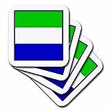 3dRose CST_98492_2 Untersetzer, Motiv Flagge Sierra Leone, 8 Stück