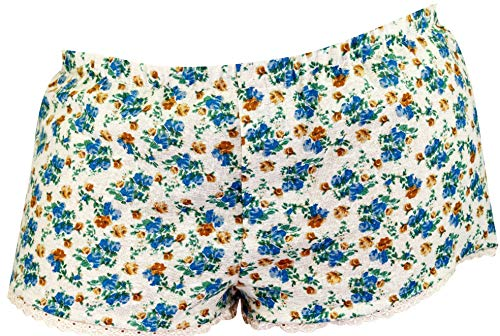 Ringelsuse Boxershorts Mädchenboxer Boxer Shorts Mädchen Damen Beige Blumen Spitze 100% Baumwolle Größe M Fairtrade